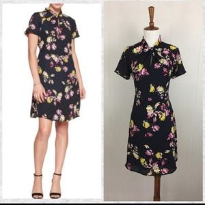 NWOT Banana Republic Black Floral Dress